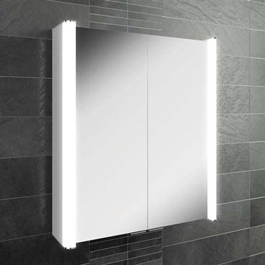 HiB Vita LED Illuminated Mirror Cabinet with Shaver Socket - 600mm